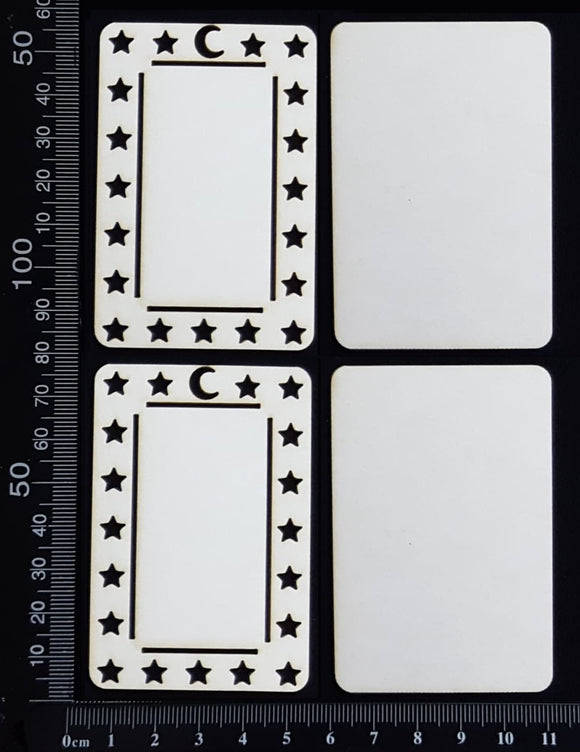 Tarot Card Set - D - Layering Set - Small - White Chipboard