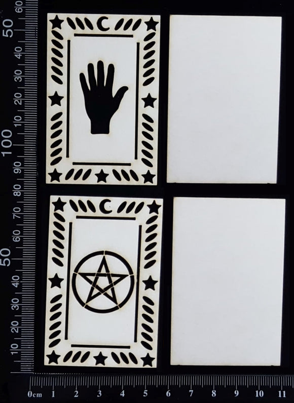 Tarot Card Set - E - Layering Set - Small - White Chipboard