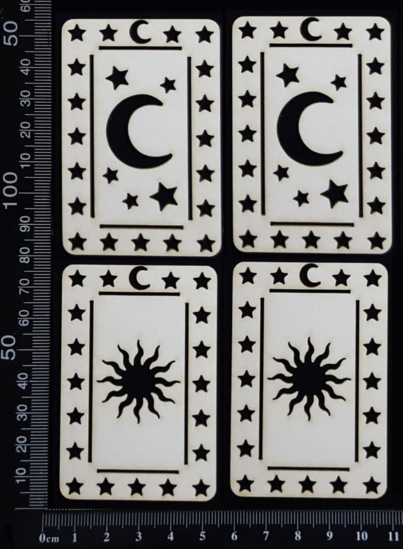 Tarot Card Set - J - Small - White Chipboard