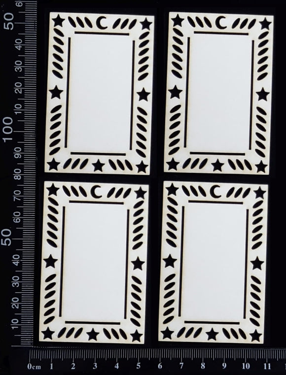 Tarot Card Set - L - Small - White Chipboard