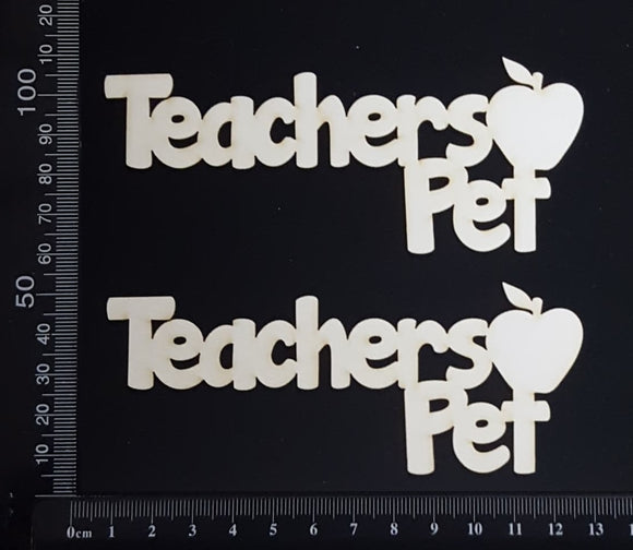 Teachers Pet - AB - Set of 2 - Small - White Chipboard