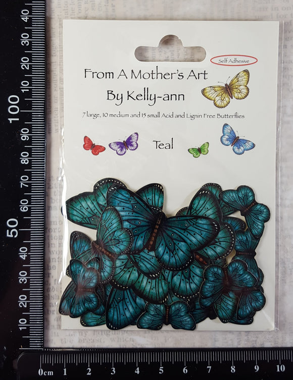 Butterfly Stickers - Teal
