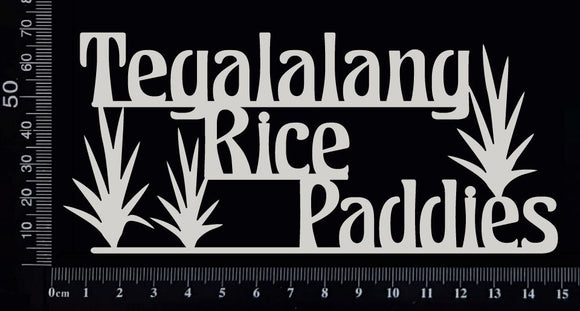 Tegalalang Rice Paddies - A - White Chipboard