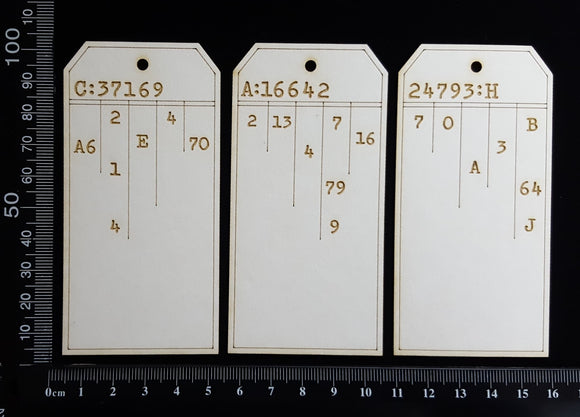 The Collector Tag Set - Small - Ledger - White Chipboard