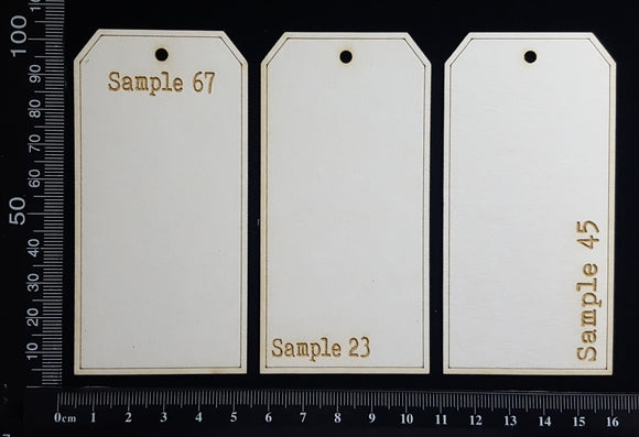The Collector Tag Set - Small - Sample - White Chipboard