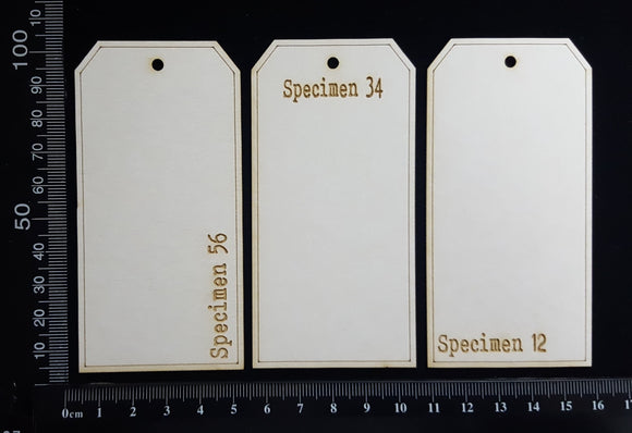 The Collector Tag Set - Small - Specimen - White Chipboard
