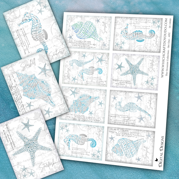 The Oceanist Collection - ATC - Set One - DI-10060 - Digital Download