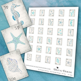 The Oceanist Collection - Faux Postage Stamps - Set One - DI-10061 - Digital Download
