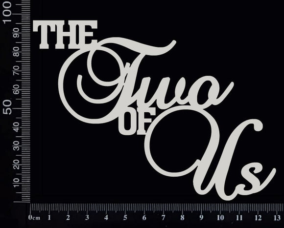 The Two of Us - Large - White Chipboard