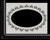 Tiffany Frame - Oval - White Chipboard