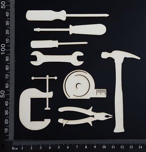 Tools set - B - White Chipboard