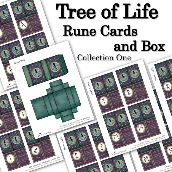 Tree of Life Rune Cards and Box - Collection One - DI-10068 - Digital Download