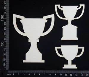 Trophies Set - A - White Chipboard