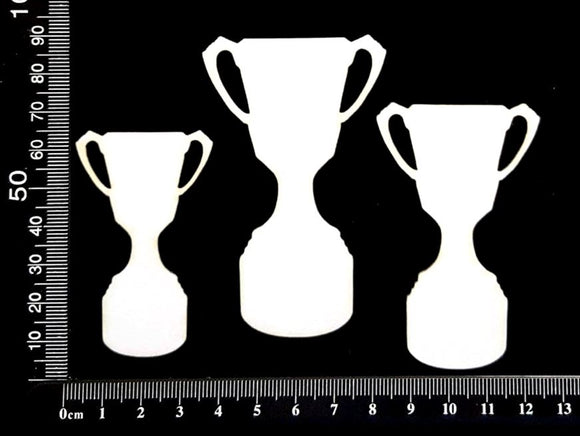 Trophies Set - B - White Chipboard