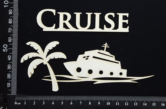 Tropical Scene - Cruise - White Chipboard
