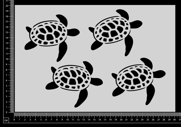 Turtles - D - Stencil - 200mm x 300mm