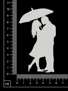 Umbrella Couple - White Chipboard