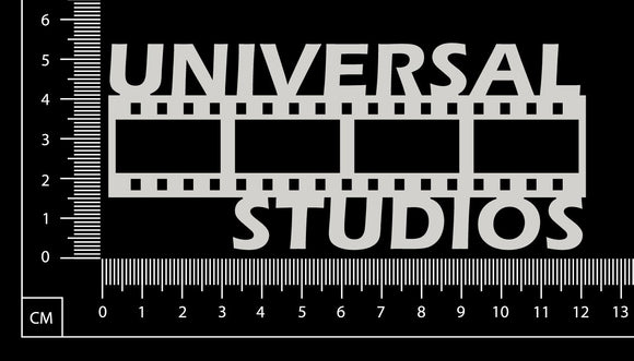 Universal Studios - White Chipboard