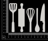Utensils - Small - White Chipboard