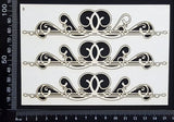 Victorian Border Set - B - Small - White Chipboard