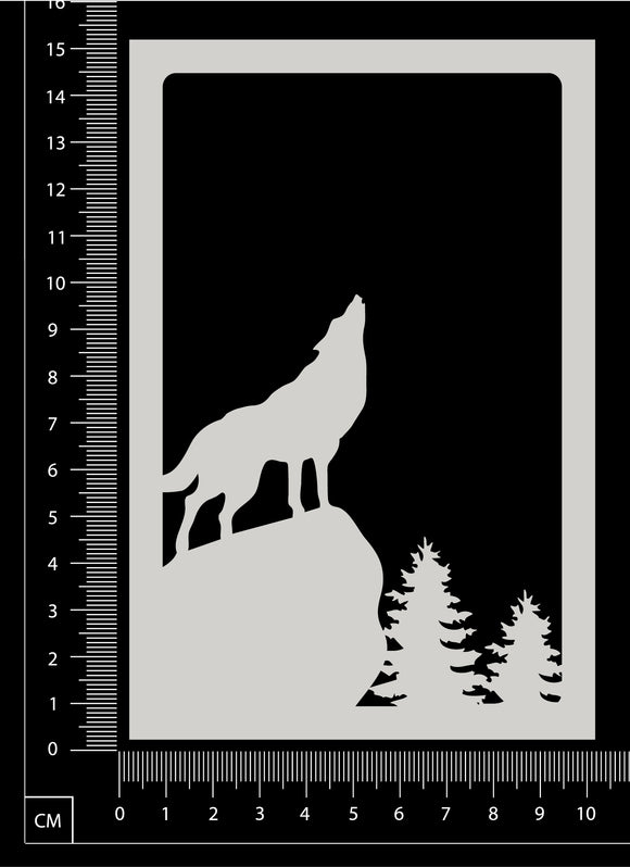 Scenic Frame - Wolf - White Chipboard