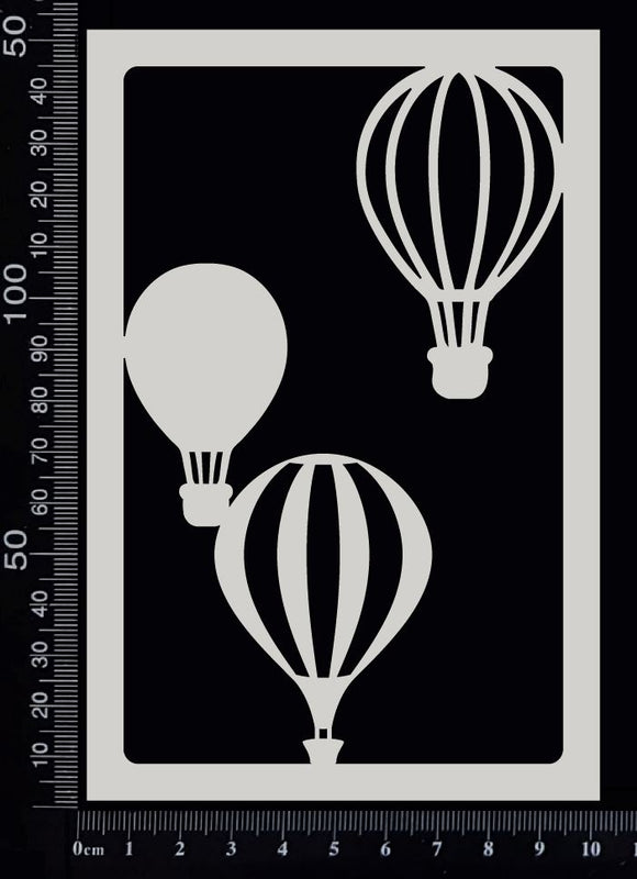 Scenic Frame - Hot Air Balloons - White Chipboard