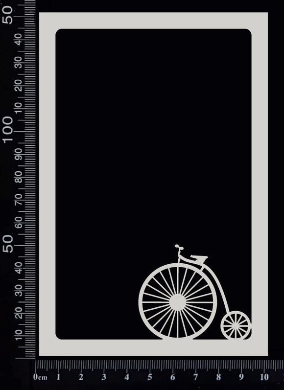 Scenic Frame - Penny Farthing - White Chipboard