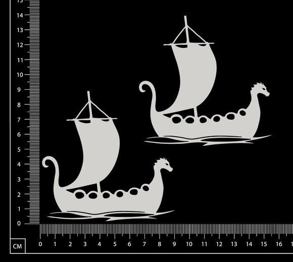 Viking Ships - White Chipboard