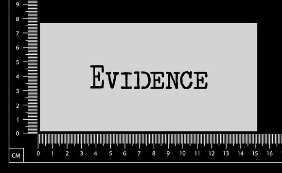Vintage Word - Evidence - Stencil - 75mm x 150mm
