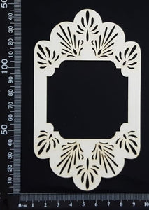 Vintage Doily Frame - White Chipboard