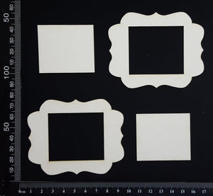 Vintage Frames Set - A - White Chipboard
