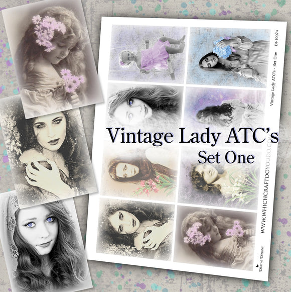 Vintage Lady ATC's - Set One - DI-10074 - Digital Download