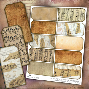 Vintage Tags Collection - Set One - DI-10031 - Digital Download