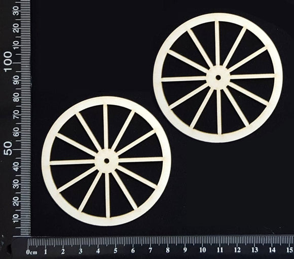 Wagon Wheel Set - AA - Large - White Chipboard