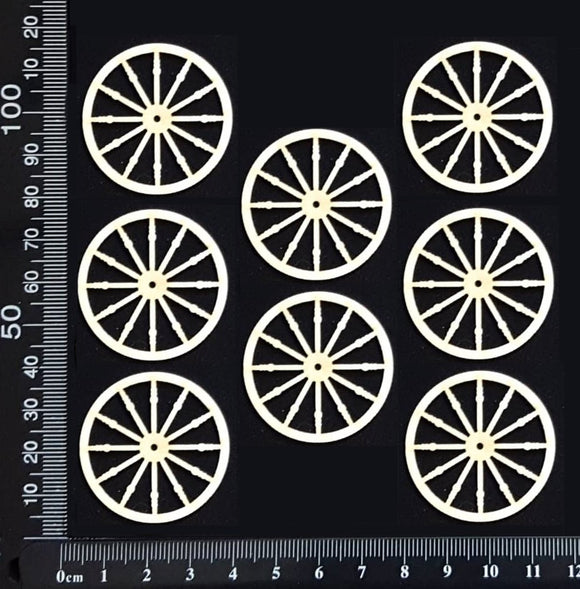 Wagon Wheel Set - BC - Small - White Chipboard