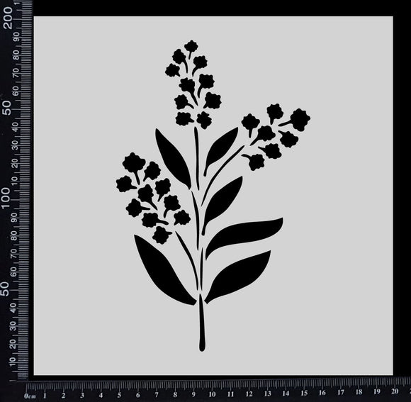 Wattle - Stencil - 200mm x 200mm