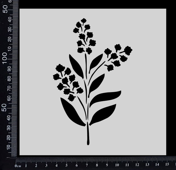 Wattle - Stencil - 150mm x 150mm