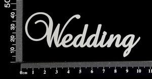 Elegant Word - Wedding - White Chipboard