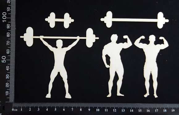 Weightlifter Set - White Chipboard