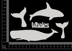 Whales Set - B - White Chipboard