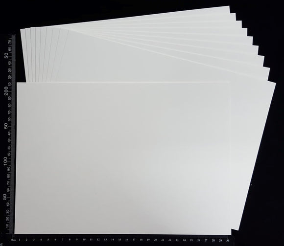 White Chipboard Sheets - Set of 10