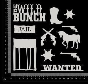 Wild West Set - White Chipboard