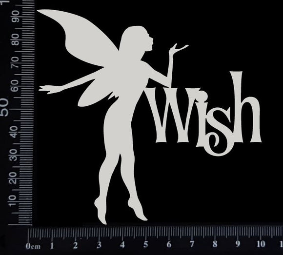Fairy Title - Wish - D - White Chipboard