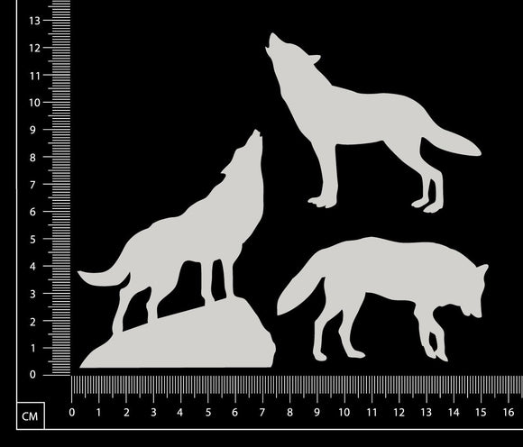 Wolves Set - C - White Chipboard