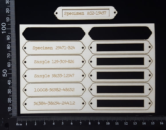 Word Plates - BD - Laser Engraved - White Chipboard