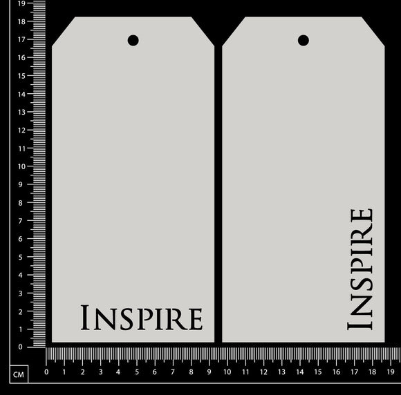 Word Tags - Large - Inspire - White Chipboard
