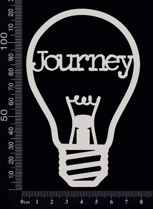 Word Bulb - Journey - A - White Chipboard