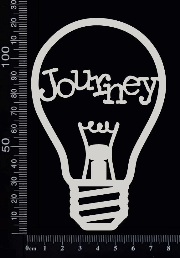 Word Bulb - Journey - C - White Chipboard