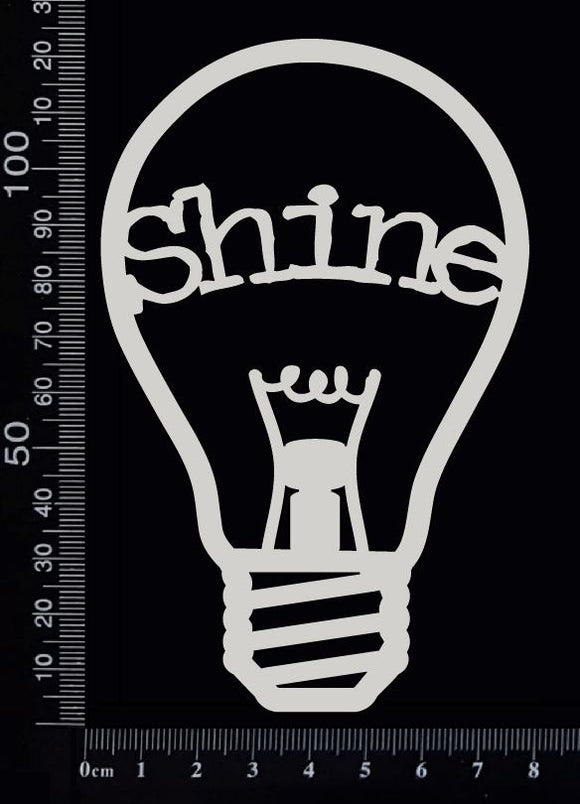 Word Bulb - Shine - B - White Chipboard
