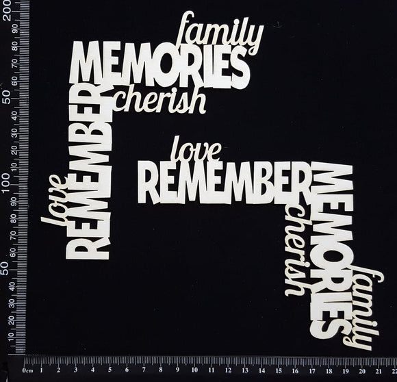 Word Corner Set - Memories - White Chipboard